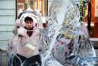 百年老街看冰雕雪塑