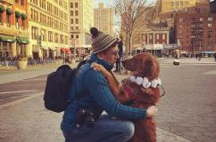 美国狗狗每天上街拥抱陌生人2小时