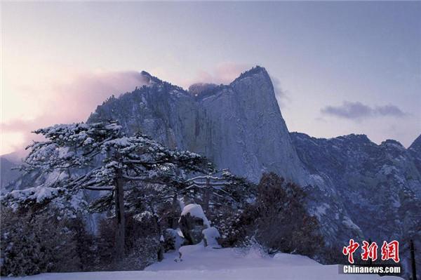 华山:雪中登山——险
