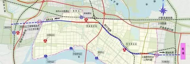 荆州岑河飞机场地图